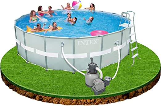 Intex Ultra Rondo Frame Pool Set, filtro de arena 7, 9M3, escalera ...