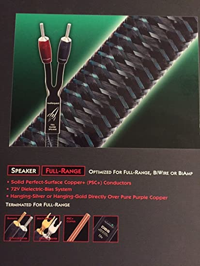 Audioquest Rocket 33 Full Range Speaker Wire with Silver Banana Plugs 8 Foot Length Pair
