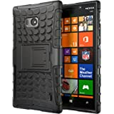 Hyperion Nokia Lumia Icon 929 Windows Phone Explorer Hybrid Case (Compatible with Verizon Nokia Lumia Icon 929) **2 Year No Hassle Warranty** [Hyperion Retail Packaging] (BLACK)