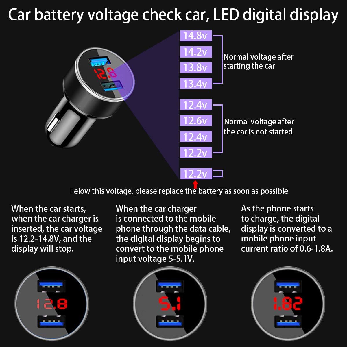 mit USB-Port 12V URAQT Auto LED Innenbeleuchtung Auto RGB Innenbeleuchtung Licht Auto Zigarettenanz/ünder Musik-Innenraum-Atmosph/äre-Lichter IR Fernbedienung
