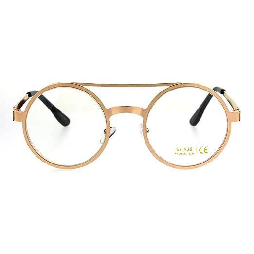 340d8d20a0 Image Unavailable. Image not available for. Color  Steam Punk Retro  Victorian Metal Rim Rose Gold Round Circle Lens Pimp Eye Glasses