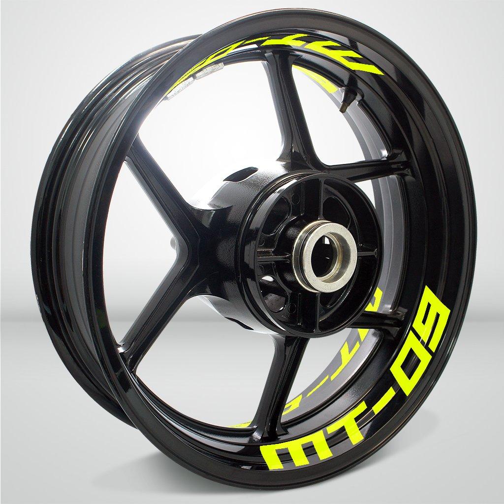 Argento Riflettente Ruote Moto Cerchione Inner Rim Tape Decalcomanie Adesivi per Yamaha MT09