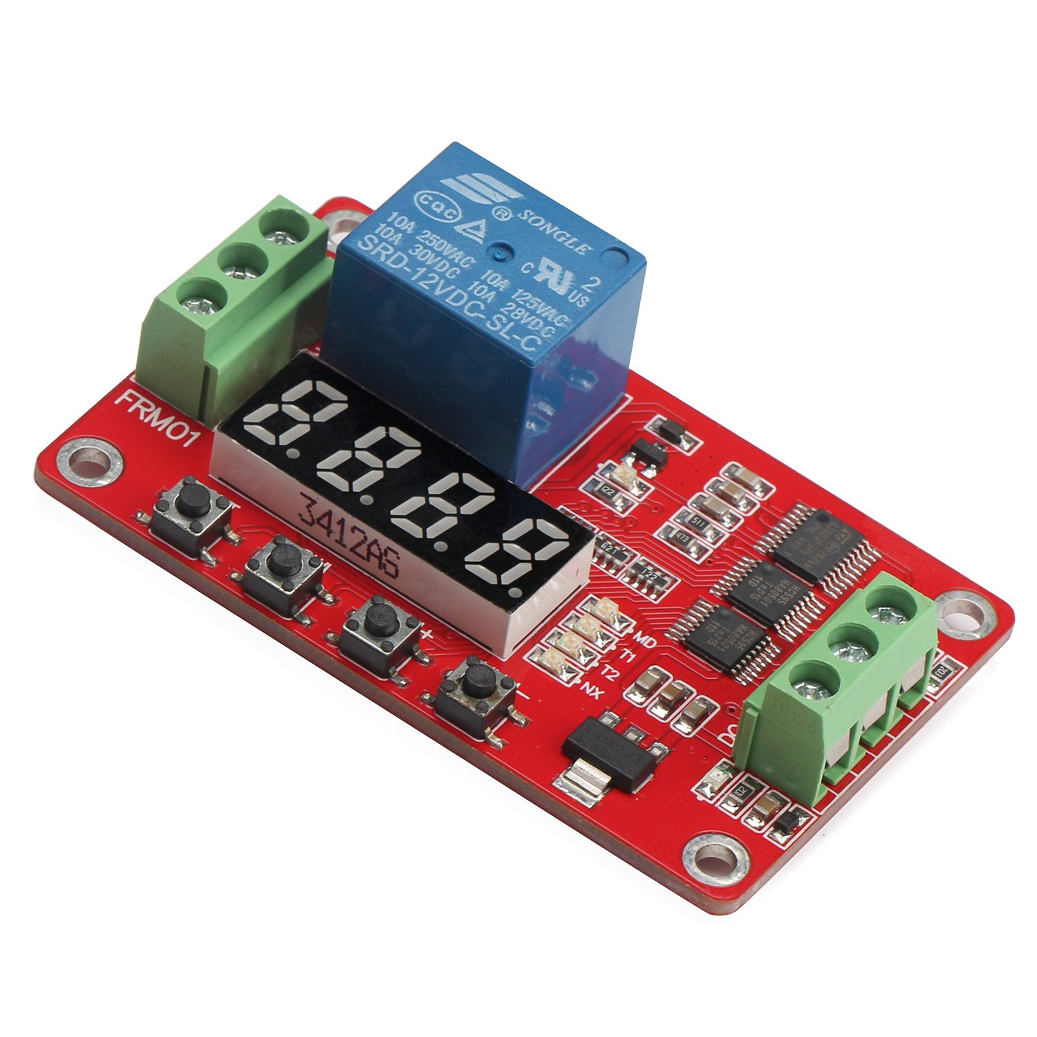 12v Dc Relay Module Drok Multifunctional 12 Volt 1 Are Typically Marked With An C On A Circuit Board Channel Programmable Cycle 10a Portable Timer Switch Power