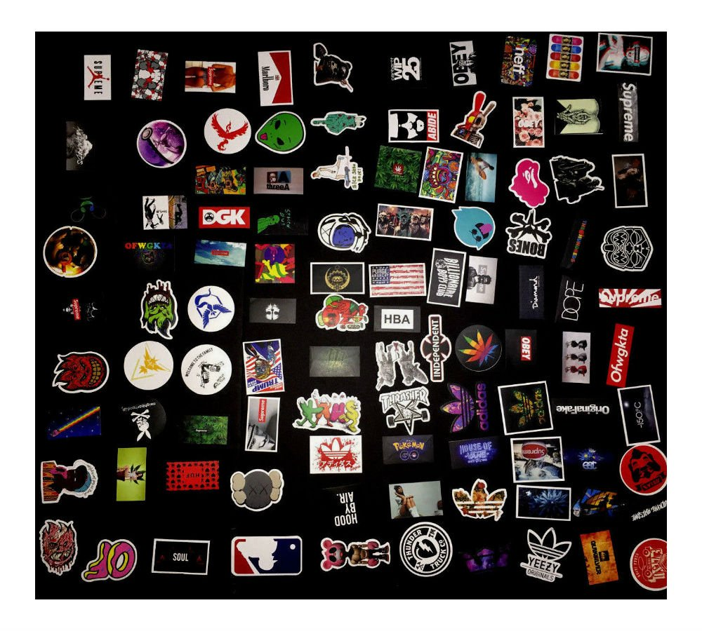 200 Skateboard Stickers bomb Vintage Hype Laptop Luggage Decals Dope Sticker Lot