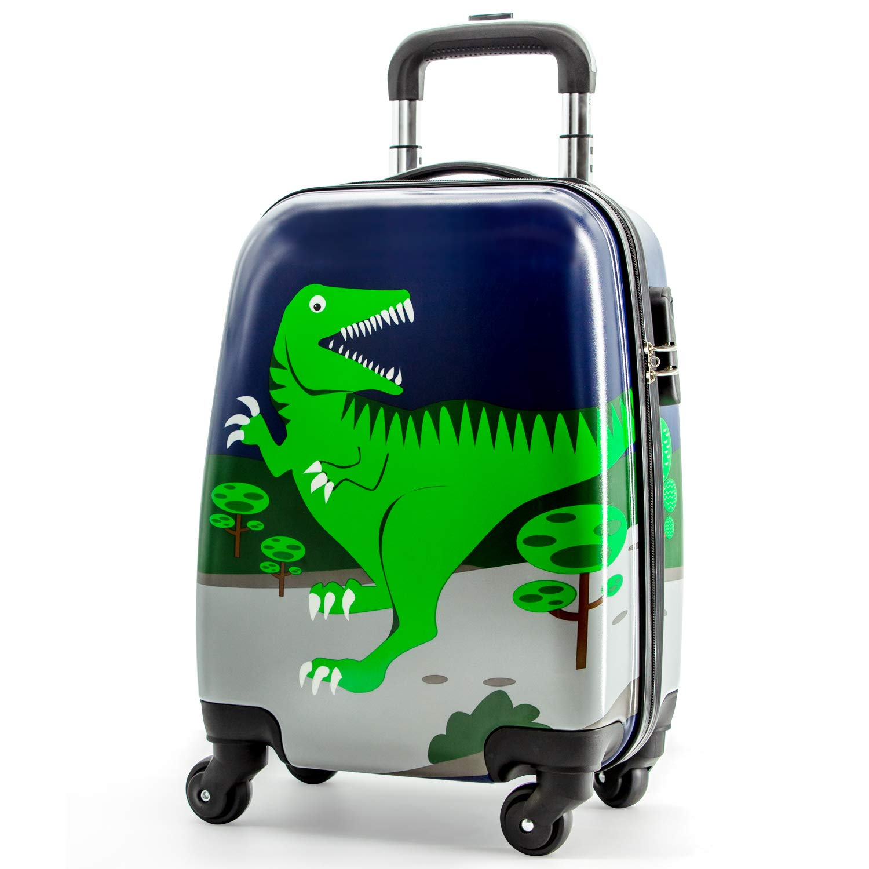 Lttxin kids' suitcase 16 inch Polycarbonate Carry On Luggage, Lovely,Hard Shell ,Boys,Children travel (Dinosaur) by Lttxin kids'