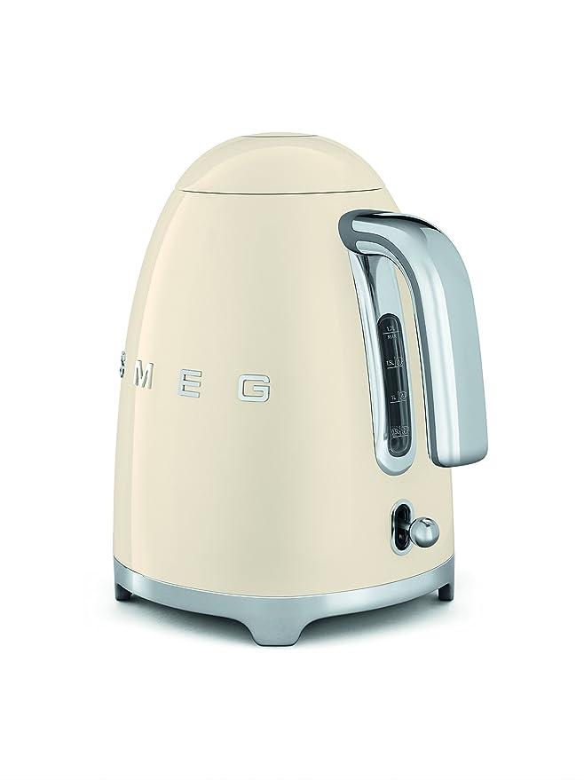 SMEG KLF01 Calentador de Agua electrico, hervidor KLF01CREU, 2400 W, 1.7 litros, Acero Inoxidable, crema: Amazon.es: Hogar