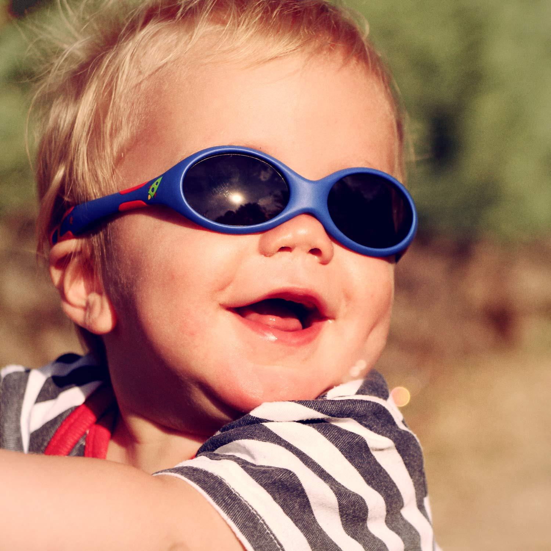 3211a380ed ActiveSol Lunettes de soleil pour BÉBÉ | GARÇON | Protection 100 % UV 400 |  polarisées | indestructibles en caoutchouc souple | 0 à 24 mois | 18  grammes ...