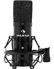 auna MIC-900B • USB Kondensator-Mikrofon • Gaming-Mikrofon • Standmikrofon für Gesangs- und Sprachaufnahmen • PC & Studio • 16 mm Kapsel • 320Hz - 18KHz • schwarz