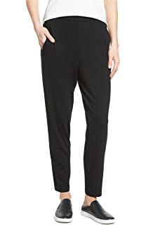 cf2d8608c7bfc Amazon.com  Eileen Fisher Washable Stretch Crepe Petite Straight Leg ...