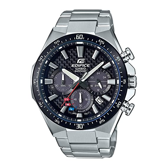 Casio Reloj Analógico para Hombre de Cuarzo con Correa en Acero Inoxidable EFS-S520CDB-1AUEF