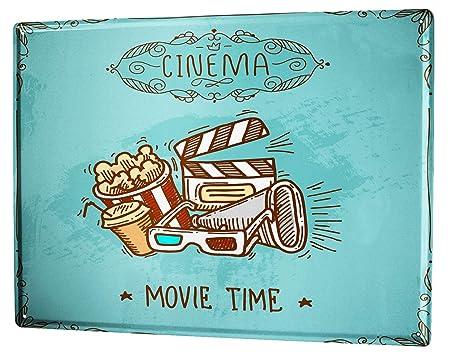 LEotiE SINCE 2004 Cartel Letrero de Chapa Cine Palomitas de ...