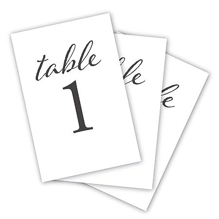 HDCo Números de Mesa de Boda, Color Negro, 1 – 25, decoración de ...