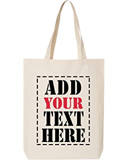 Amazon.com: DESIGN YOUR OWN Canvas Tote Bag - Add your Picture ...