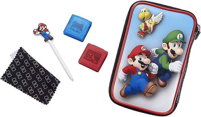Official Essential Mario Pack - Set de accesorios oficial para Nintendo New 3DS XL / 3DS X, con funda para la 3DS y juegos, 4 diseños a elegir Luigi Conjunto: Amazon.es: Ropa