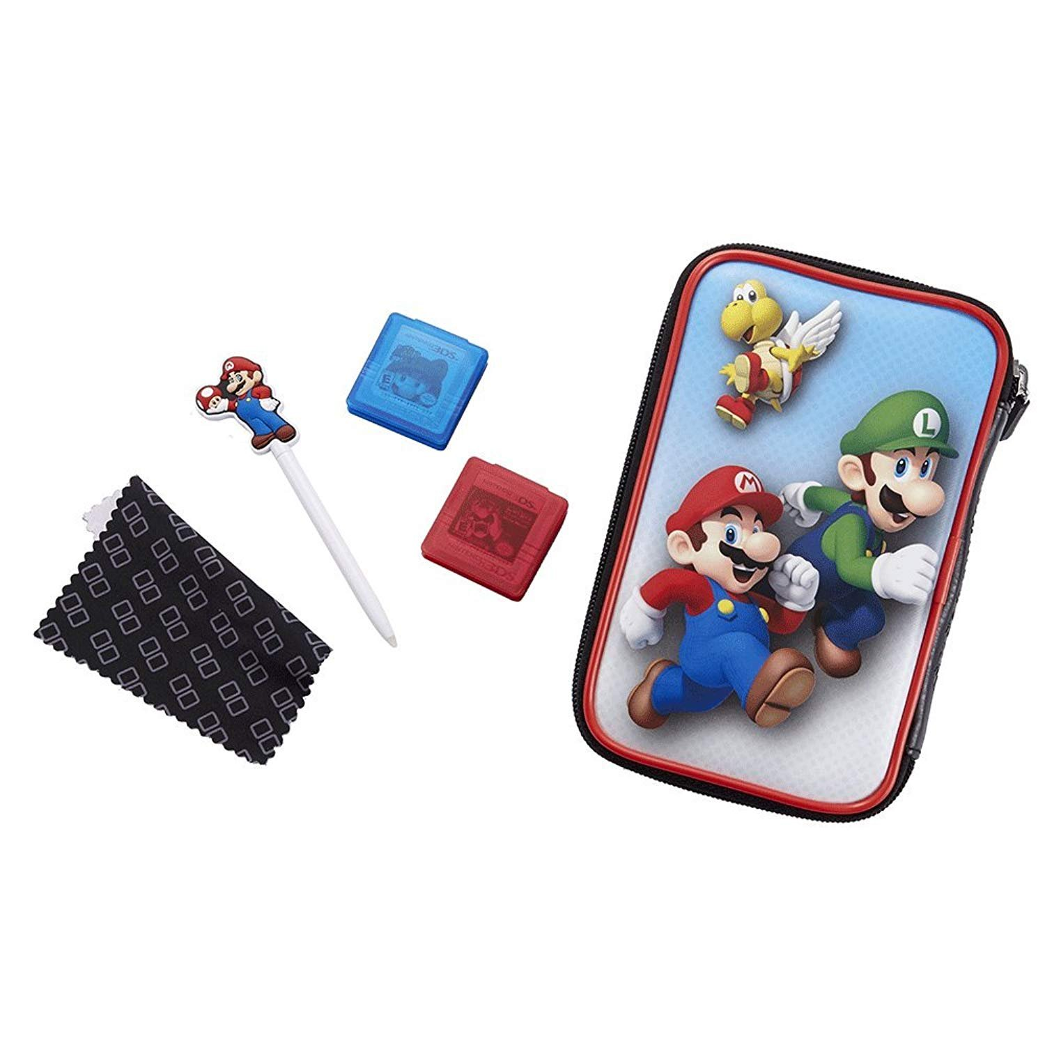 """Official Nintendo New 3DS XL / 3DS XL - Accessory Set """"Official Essential Mario Pack"""" 4 Motifs For selection Protects 3DS und Games - Luigi, Set"""