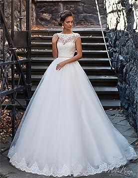 LUCKY,U Robe de mariée Dentelle pour Femme Robe de mariée Sirène Robe de  soirée