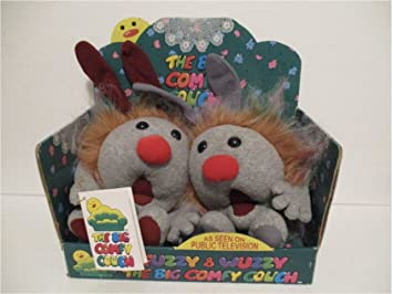 Big Comfy Couch Dust Bunnies Fuzzy And Wuzzy 1997 In Box