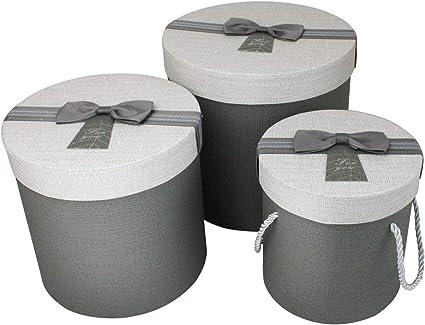 Emartbuy Conjunto de 3 Rígido Lujo Cilindro Presentación de Caja ...