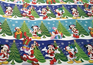disney mickey mouse clubhouse christmas snow party wrapping paper 40 sq ft - Mickey Mouse Clubhouse Christmas