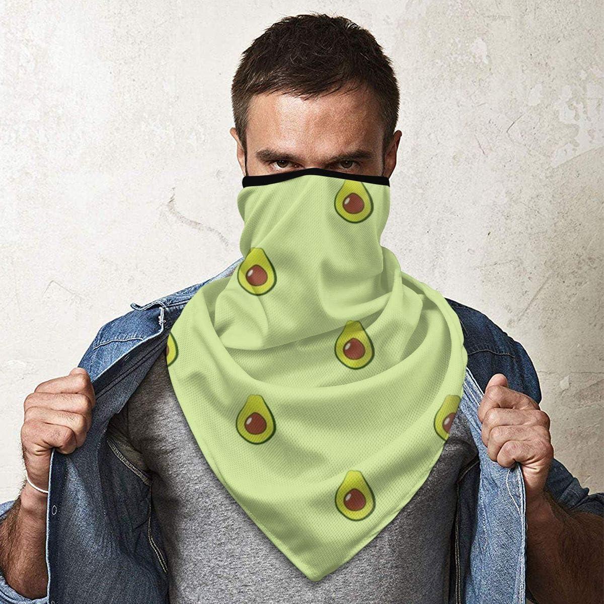 Verduras de aguacate en verde diadema de pelo de tormenta a prueba de viento bufanda ajustable para el cuello bufanda más cálida pañuelo para unisex