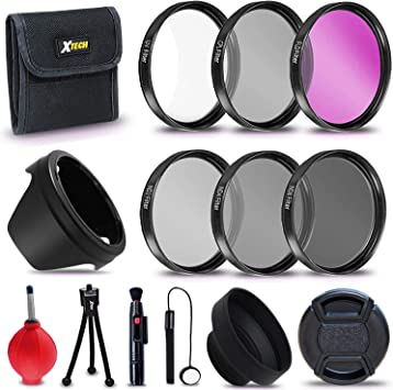 52MM 3 Piece UV CPL ND 8 Filter Kit for DSLR Digital Camera /& Lens New Photo