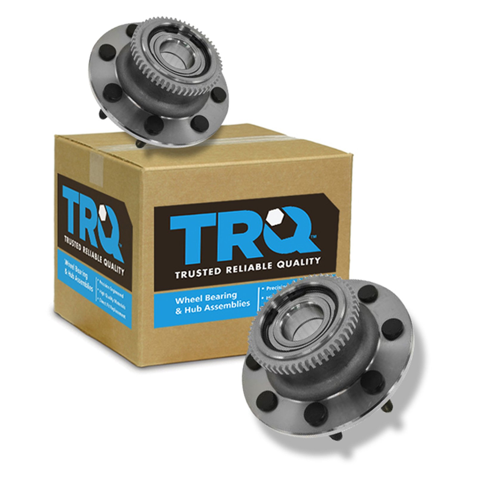 TRQ Front Wheel Hub & Bearing LH & RH Pair Set for 00-02 Dodge Ram 2500 3500 2WD
