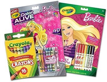 amazon com crayola 1 x barbie coloring activity pad w 7 markers