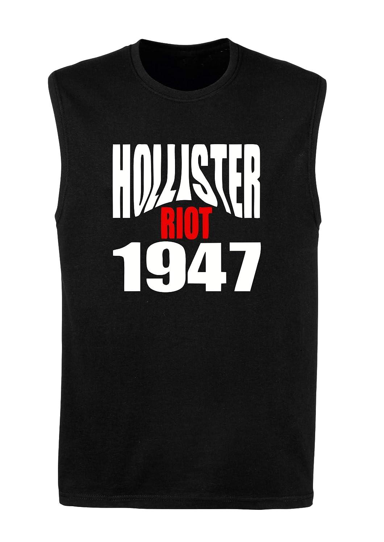 Singlete para los Hombre Negro OLDENG00523 Hollister Riot 1947 ...