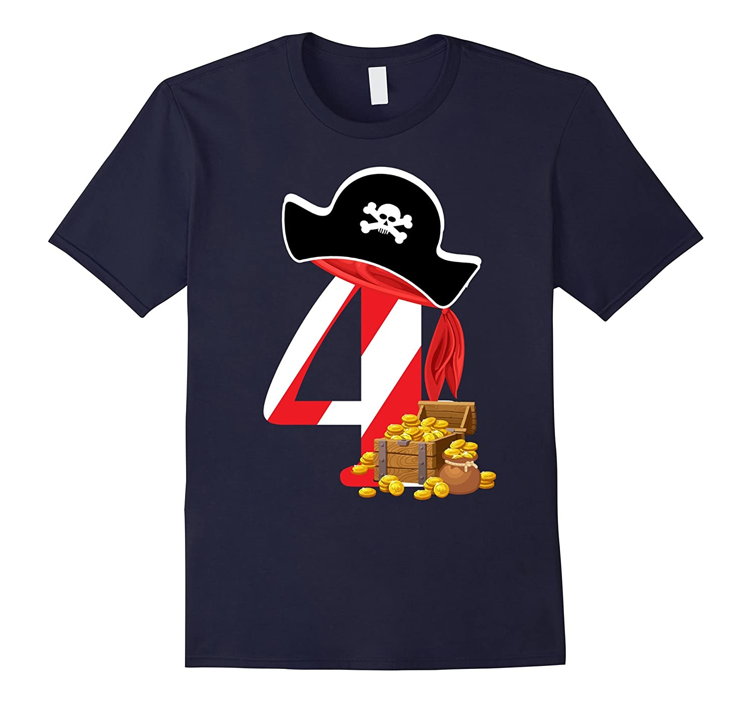 4th birthday For Pirate T-shirt-FL