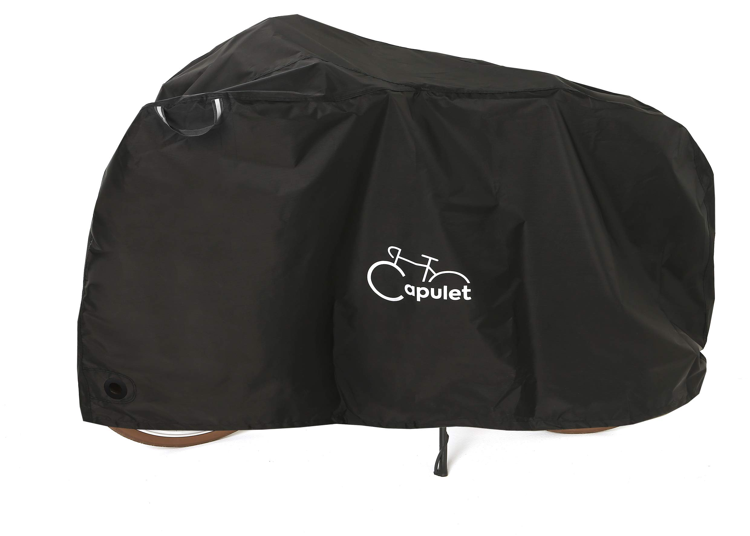 CAPULET Outdoor Bicycle Storage Cover, Ripstop Material for Professional Grade Heavy Duty All Weather Protection. Bike Seat Cover Included. Rust Proof & Universal for Mountain, Road, Electric Bike by CAPULET