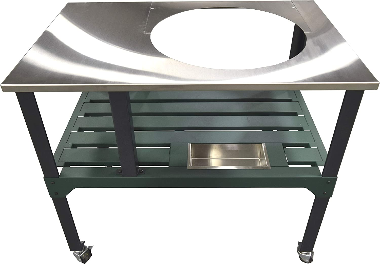 Amazon Com Rmp Universal Steel Grill Cart For Round Ceramic