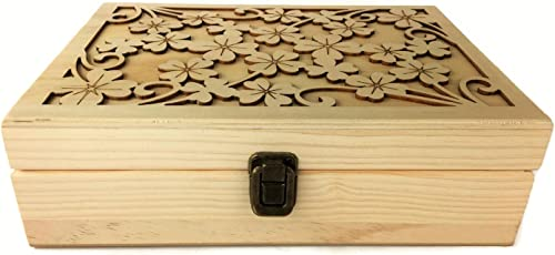 Essential for Life - 48 Slot Wooden Essential Oil Box - Great Carry Case Organizer & Holder for Storage Display Travel & Presentation - Protects 5, 10 & 15ml Bottles in an Elegant Decorative Design