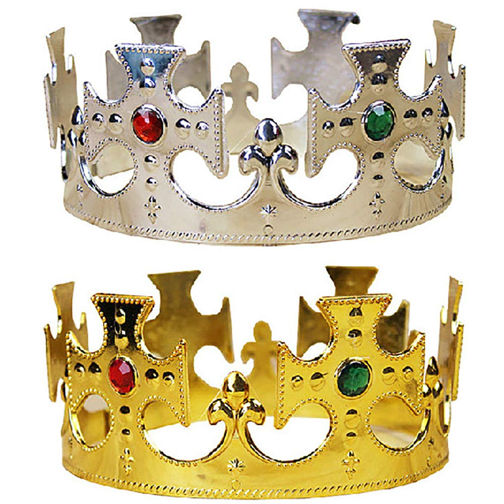 Isuper Halloween Royal Gold King Plastic Prince héritier Costume Accessoire pour Enfants