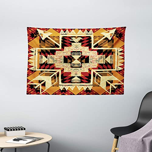 Ambesonne Arrow Tapestry, Inspired Pattern Graphic Design Abstract Art with Earth Tones, Wide Wall Hanging for Bedroom Living Room Dorm, 60 X 40 , Cream Merigold