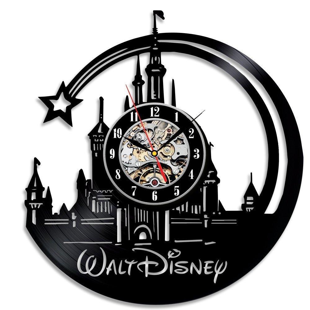 Meet Beauty 2018 Il più bello bellissimo orologio da parete in vinile Walt Disney Clock Decorazioni per la casa decorative di grandi dimensioni Idea regalo di Natale per ragazzi Papà Ying Ding