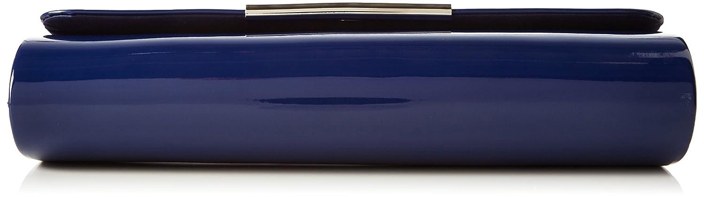 Berydale Femme Sac à Main Verni, avec Chaîne supplémentaire, Bleu (Blau/Navy), 26x11x6 cm (B x H x T)