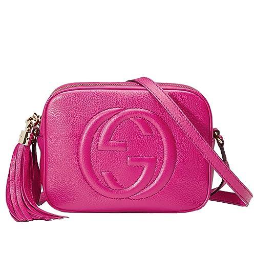 82de7bfac18f GUCCI Soho Magenta Pink Leather Disco Cross-Body Shoulder Bag 308364:  Amazon.ca: Shoes & Handbags