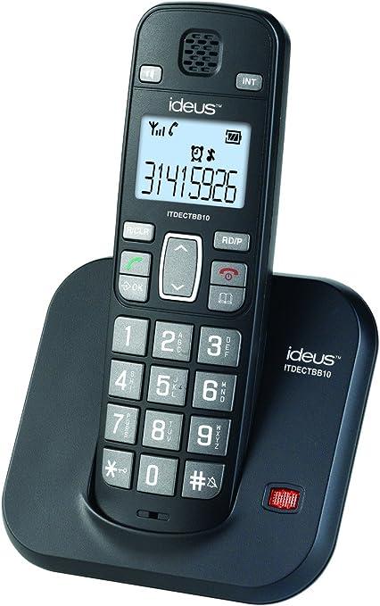 Ideus ITDECTBB10 - Teléfono Inalámbirco Teclas Grandes Negro: Amazon.es: Electrónica