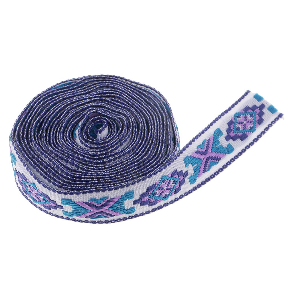 SM SunniMix 3 Yards Ethnic Embroidery Braid Jacquard Ribbon Trim for Sewing DIY Craft Millinery Cloth Decoration DIY Cushion Curtain