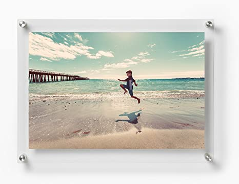 Buy Paper Plane Design Double Panel Clear Acrylic Floating Photo