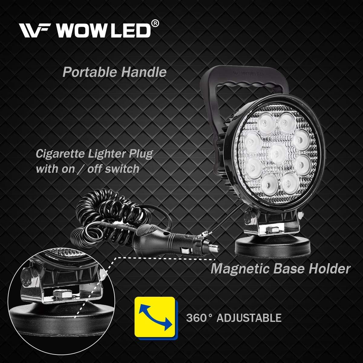 wowled tragbar 27/W LED Arbeitsleuchte Flutlicht Magnetfu/ß Truck Car Home Camping Lampe 12/V 24/V