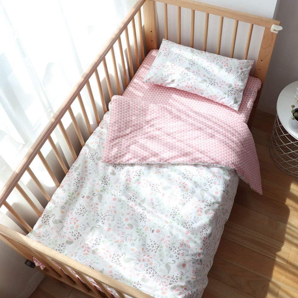 100/%-Cotton 3-Piece Crib-Bedding Set with Tree-Print//Nursery//Kids//Baby Bedding