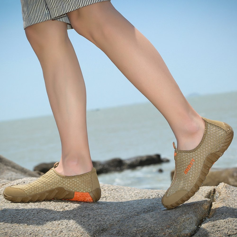 Badeschuhe Damen Schnelltrocknend Aquaschuhe Herren Sommer Schuhe Geschlossene Sandalen Wasserfest Sport Unisex
