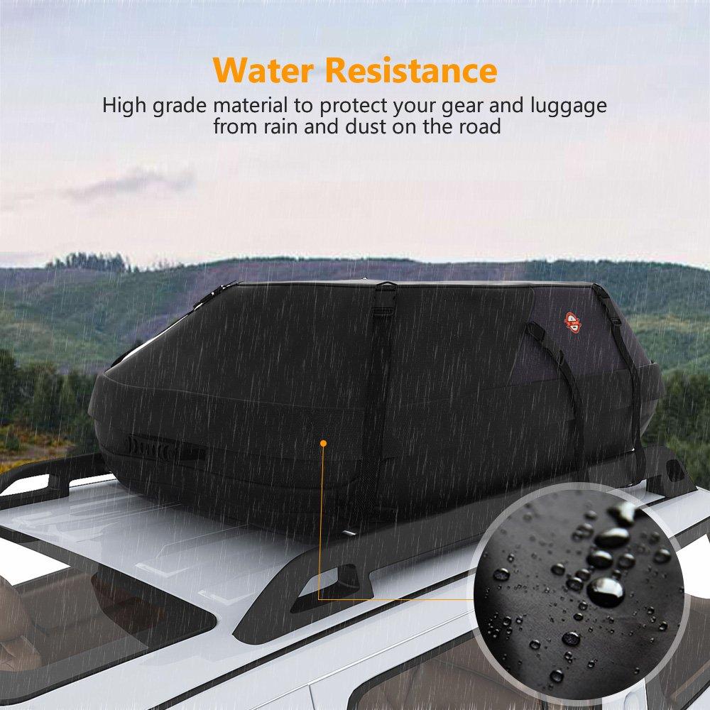 sailnovo sac de toit voiture valise de toit coffre de toit voiture noir souple ebay. Black Bedroom Furniture Sets. Home Design Ideas