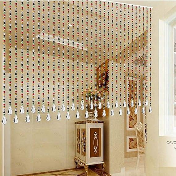 N / A CHAXIA Cortina De Cuentas Cristal Cortina Colgante Baño Cortina Entrada Sala Dividir, Personalizable (Color : A, Size : 25 strands-80X150CM): Amazon.es: Hogar