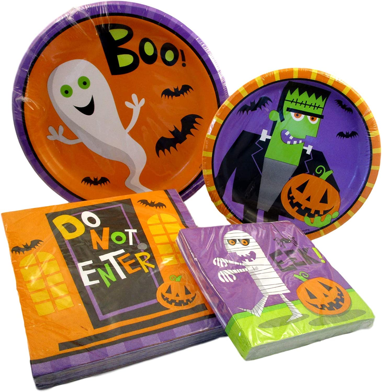 Halloween Character Plates and Napkin Sets