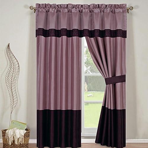 Wendy Purple Curtains 2 x Panels 42×84″ ea.
