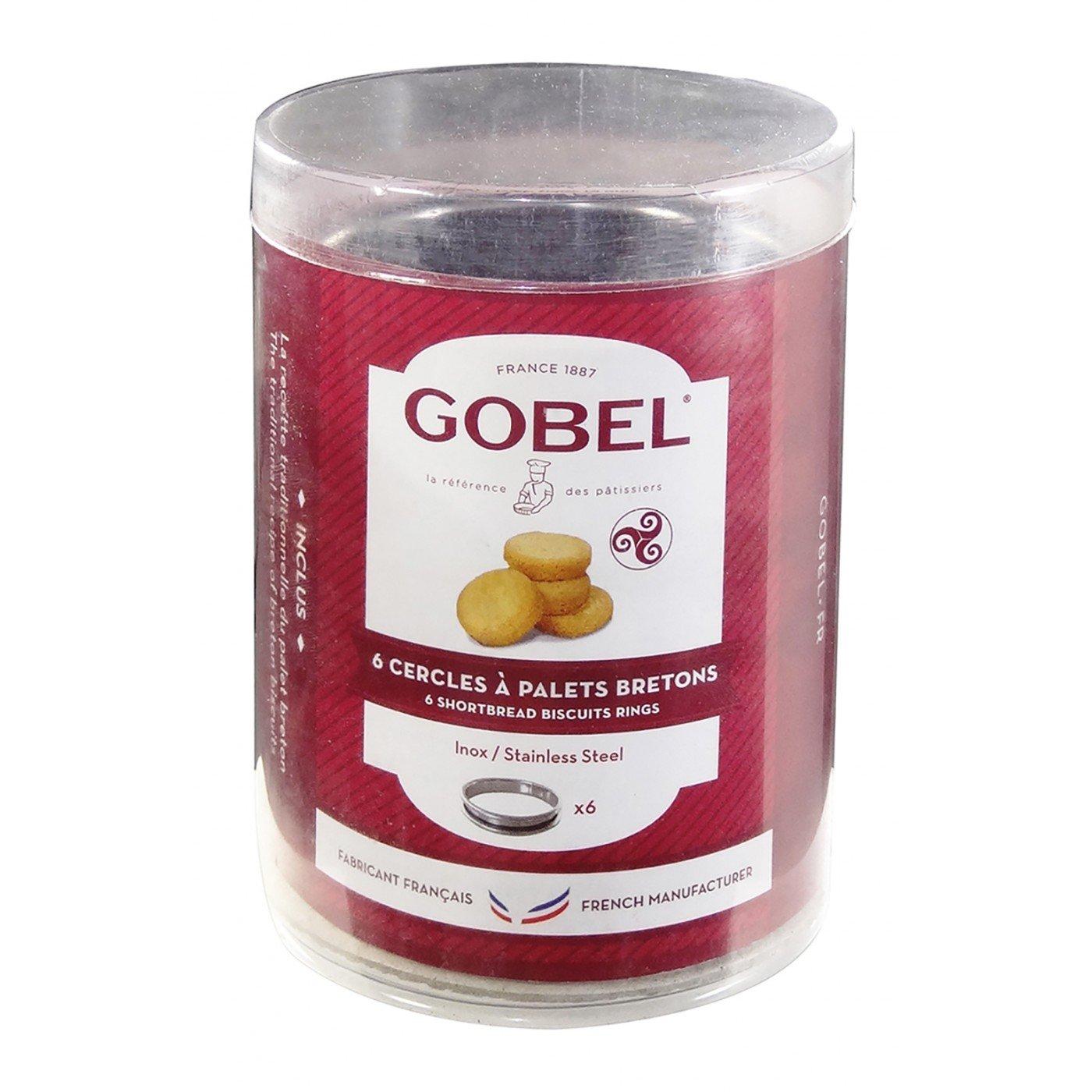 Gobel 834995–Set di 6cerchi in acciaio inox per palets Bretoni–Utensili a pasticceria