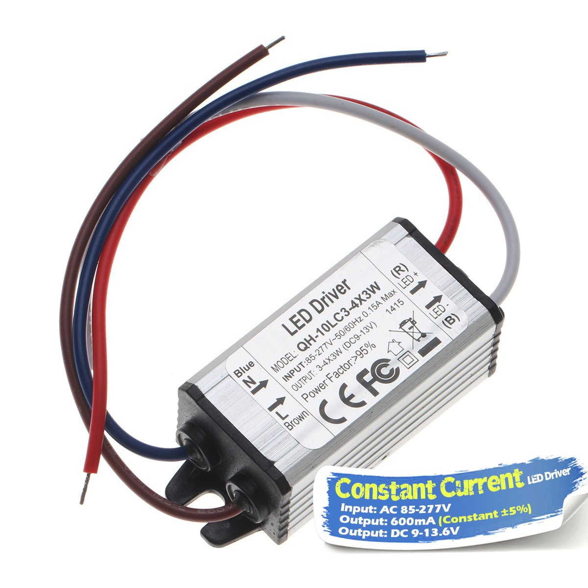 Chanzon Led Driver 600ma Constant Current Output 9v 136v Input Together With 10 Watt Circuit On High 85 277v Ac Dc 3 4x3w 9w 12w Ip67 Waterproof Power Supply 600 Ma Lighting Transformer