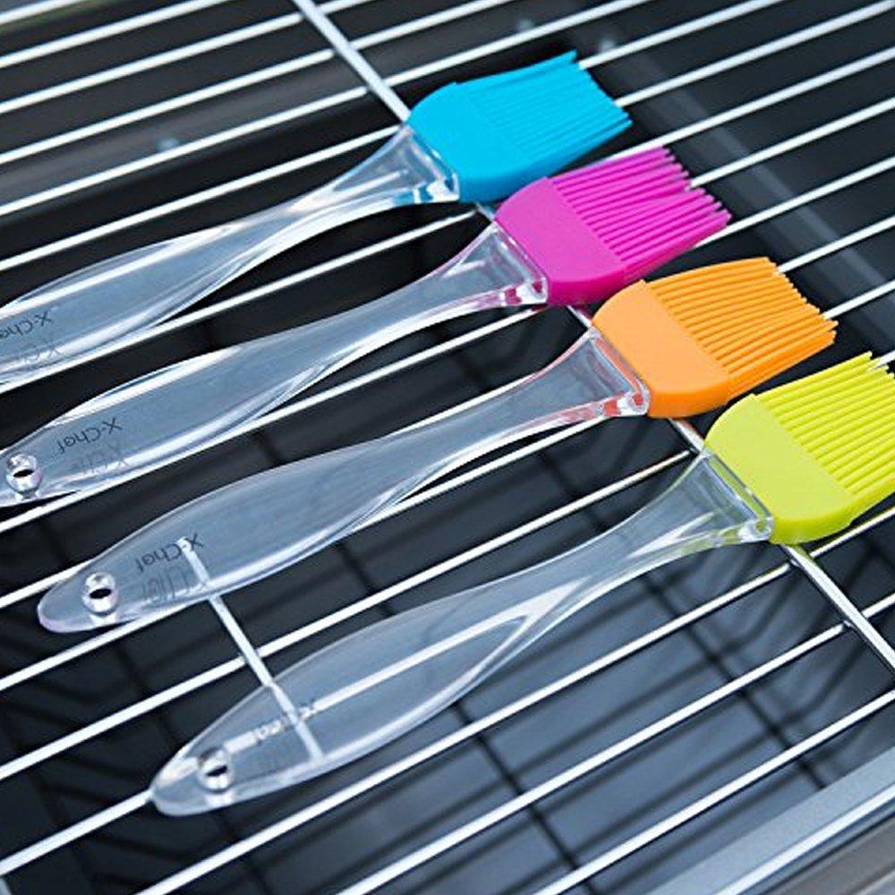 Nicedier-Tech - Cepillo de silicona para barbacoa, juego de pinceles de repostería para base, perfecto para barbacoa, asar, hornear (azul): Amazon.es: ...